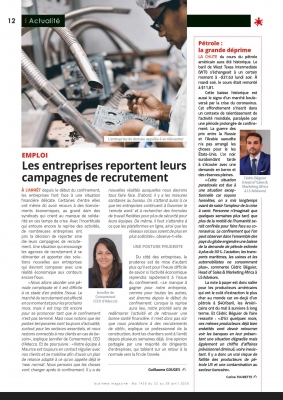 Our Head of Sales Mr Cédric Béguier shares an insight about the global oil price slump on business magazine no.1436
