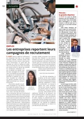Notre chef des ventes, M. Cédric Béguier, nous fait part de son point de vue sur la chute du prix du pétrole dans le business magazine n°1436